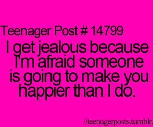 happy, jealous, and quote image