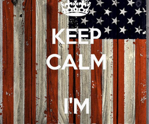 keep calm, american, and usa image