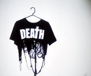 black and white, death, and gothic image