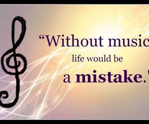 life, mistake, and music image