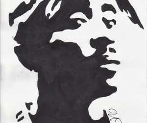 2pac, art, and drawing image