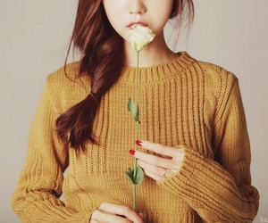 asian, girl, and sweater image