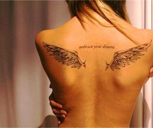 back, tattoo, and embrace your dreams image