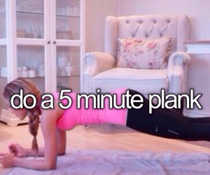 exercise, plank, and bucket list image