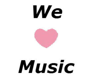 love it, music, and we love music image