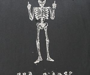 skeleton, black and white, and bones image