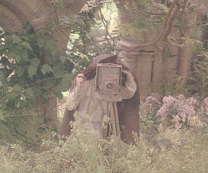 The Secret Garden, camera, and flowers image