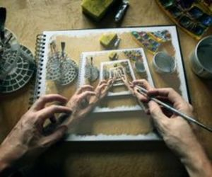 art, drawings, and painting image
