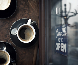coffee, cafe, and open image