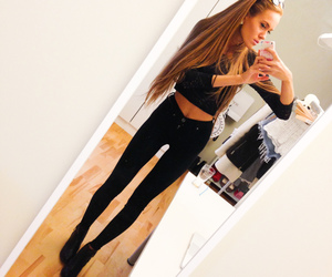 skinny, fashion, and fit image