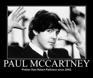 Paul McCartney, beatles, and robert pattinson image