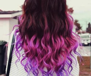 ombre, pink, and violet image
