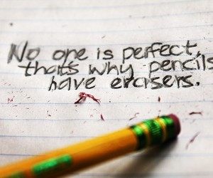 pencil, perfect, and eraser image