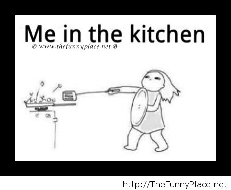 Me cooking in the kitchen on We Heart It