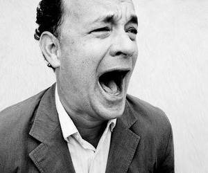 actor, tom hanks, and black and white image