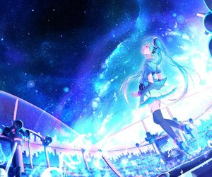 awesome, beautiful, and blue light image