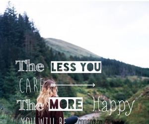 care, happy, and mountains image