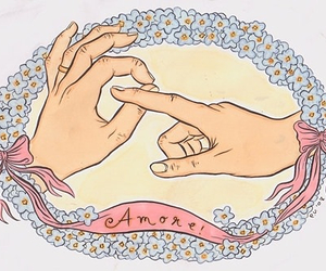 amore, italian, and nails image