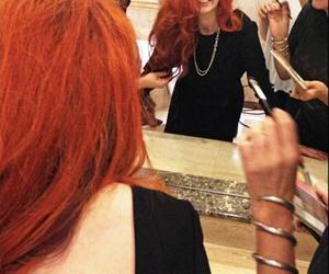black dress, ginger, and make up image