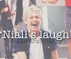 niall, laugh, and horan image