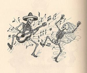 dia de muertos, draw, and guitarra image