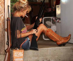 cigarette, shotgun, and country girl image