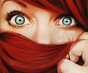 eyes, hair, and red hair image
