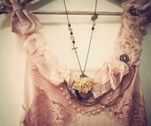 fashion, dress, and necklace image