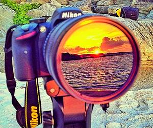 camera, nikon, and sun image
