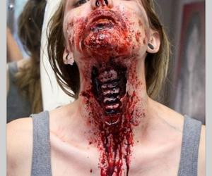 Halloween, makeup, and blood image
