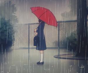 rain and anime image
