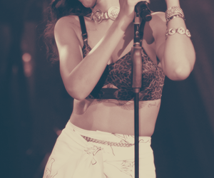 beauty, on stage, and rihanna image