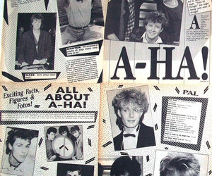 80s, a-ha, and magazine clippings image
