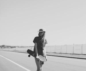 black and white, dope, and skate image