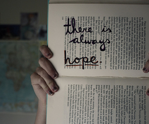 hope, book, and quote image