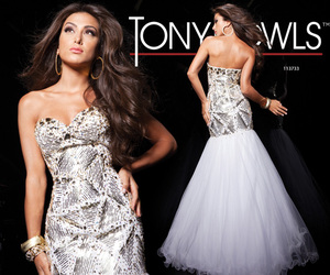 evening dress, Hot, and prom dress image