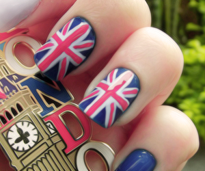 nails, london, and blue image