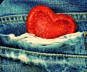 heart, jeans, and pocket image