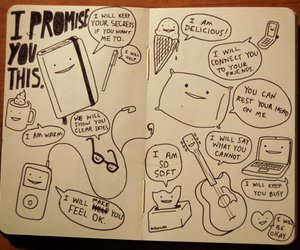 promise, guitar, and drawing image
