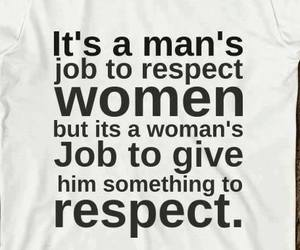 woman, respect, and man image