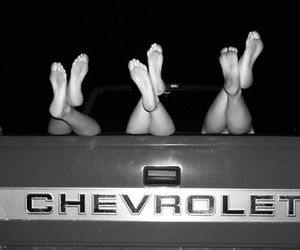 barefoot, black&white, and chevy image