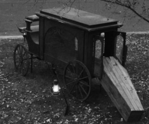 coffin, black and white, and death image