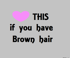 brown, hair, and heart image