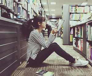 books, girl, and read image