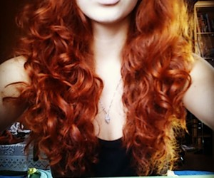 beautiful, curly, and ginger image