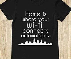t-shirt, wi-fi, and true image