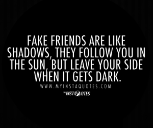 friendship, fake friends, and quote image