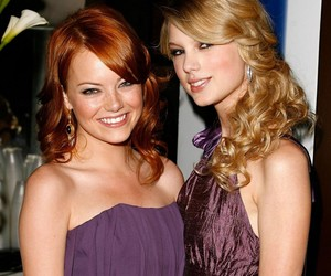 emma stone and Taylor Swift image