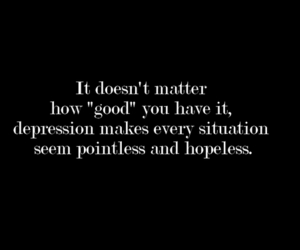 depression, quotes, and depressed image