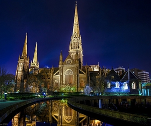 australia, cathedral, and melbourne image